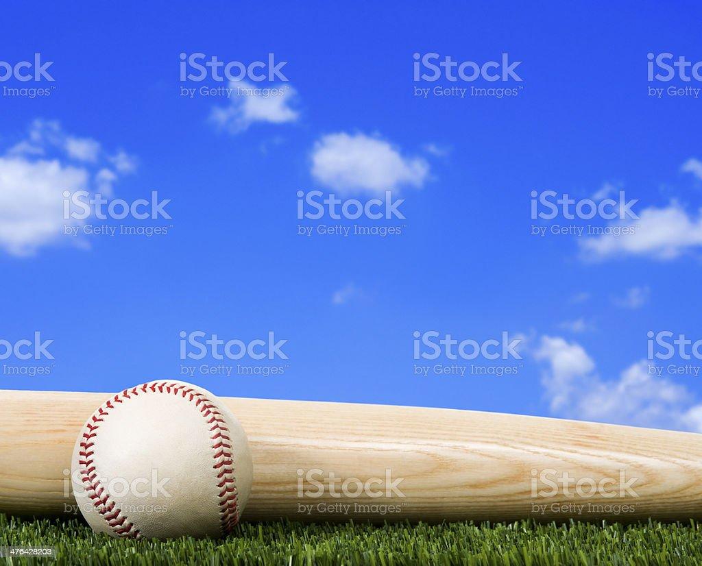 Baseball - On Grass stock photo