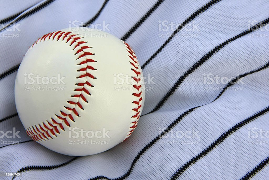 Baseball on Jersey royalty-free stock photo