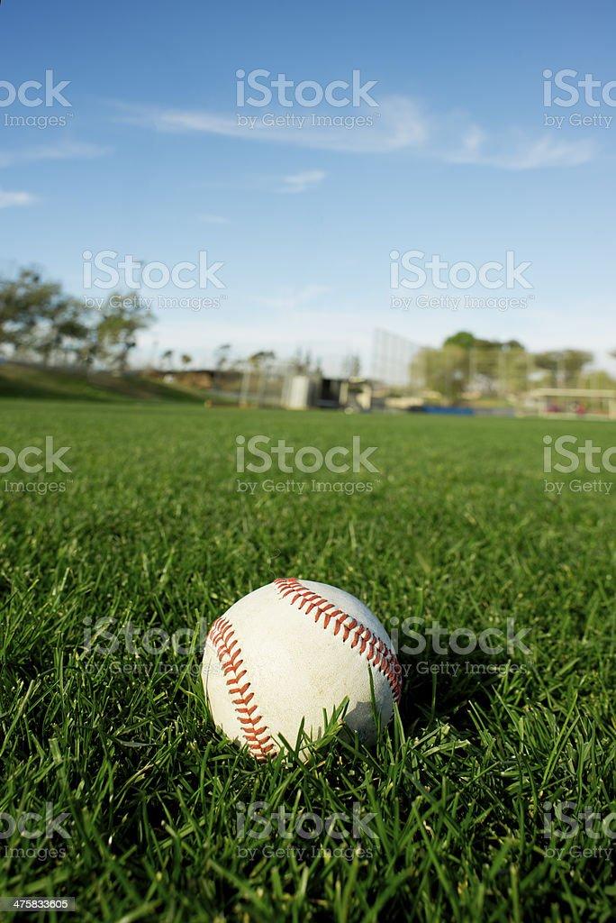 Baseball on sports field royalty-free stock photo