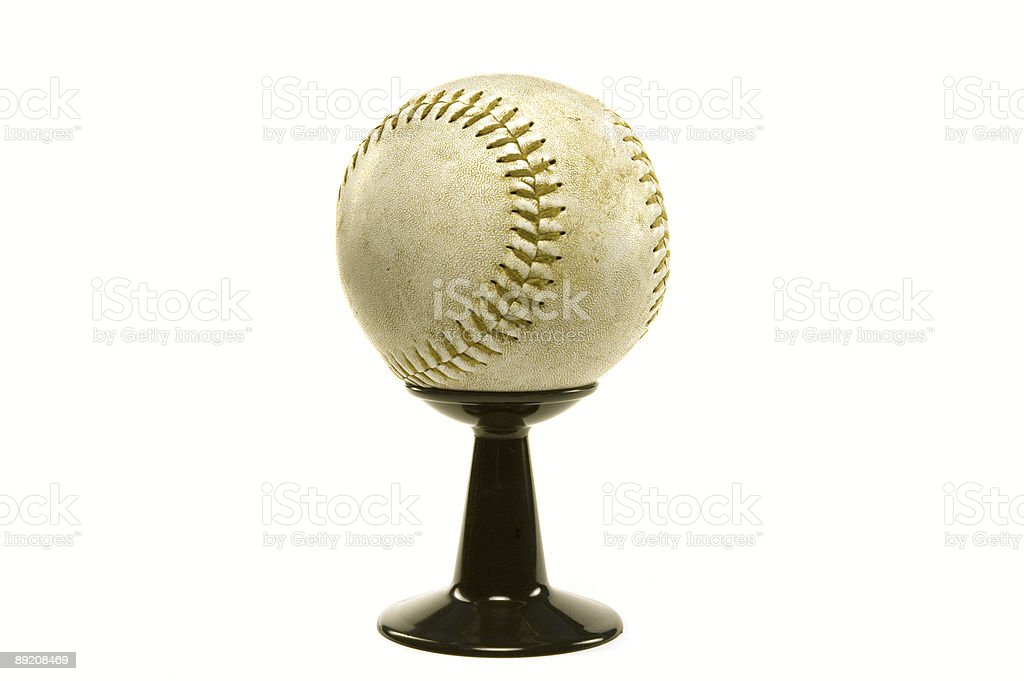 baseball on stand royalty-free stock photo