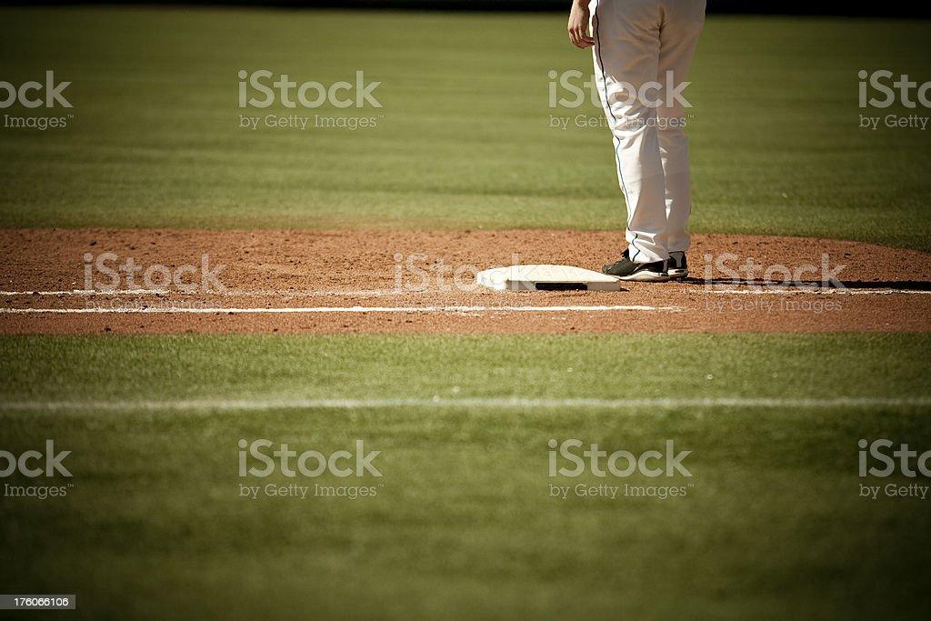 Baseball on the diamond royalty-free stock photo