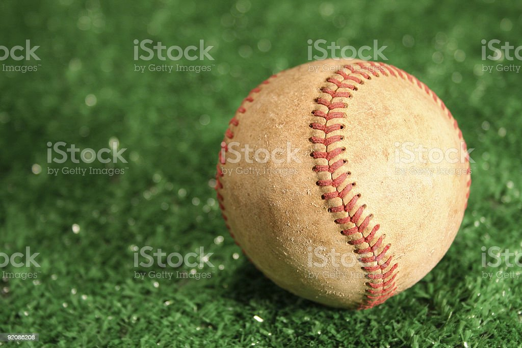 baseball on the field of play royalty-free stock photo