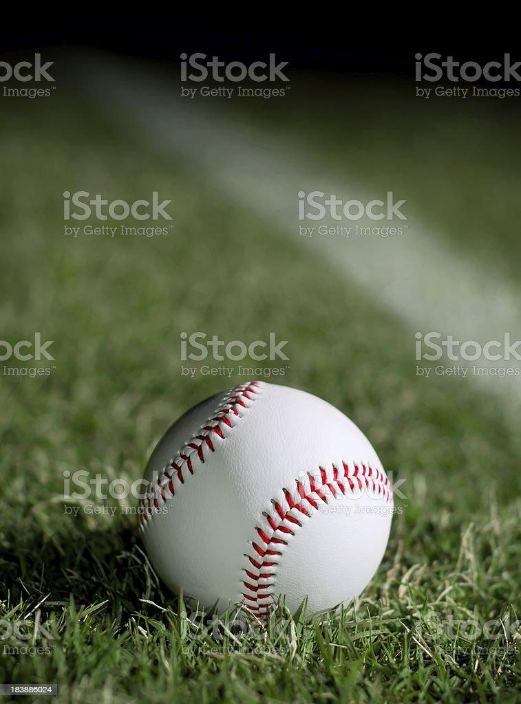 baseball on the field royalty-free stock photo