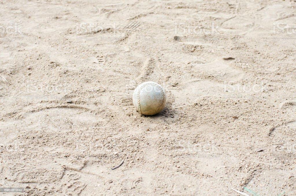 Baseball on  the field stock photo
