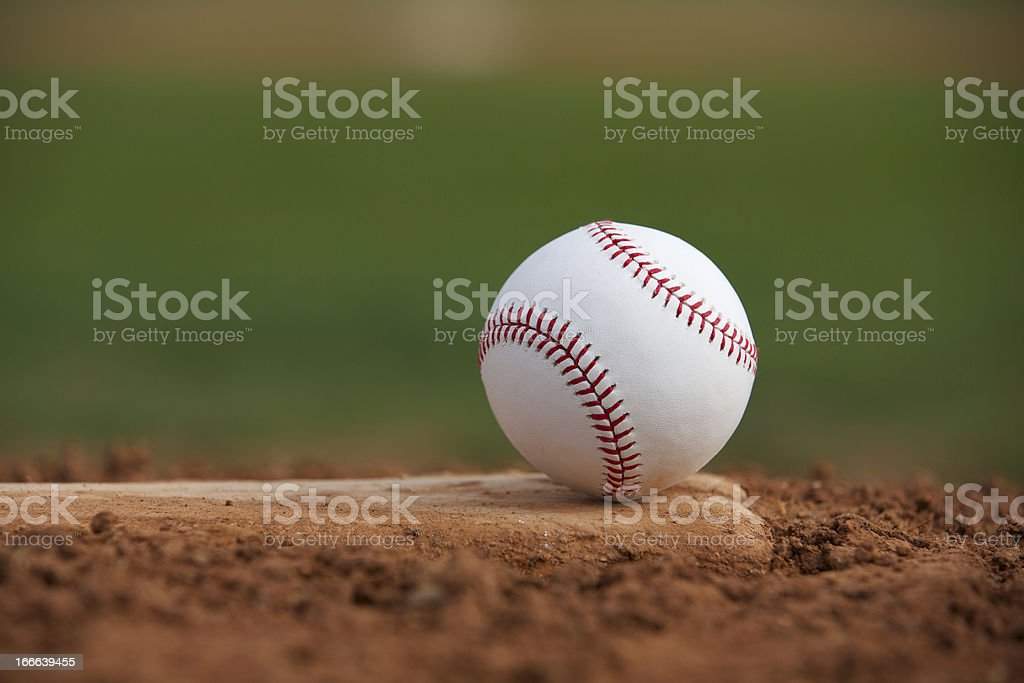 Baseball on the Pitchers Mound royalty-free stock photo