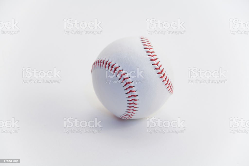 baseball on white royalty-free stock photo