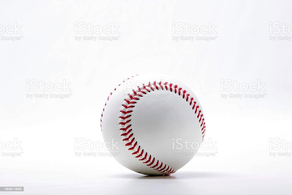 Baseball On White stock photo
