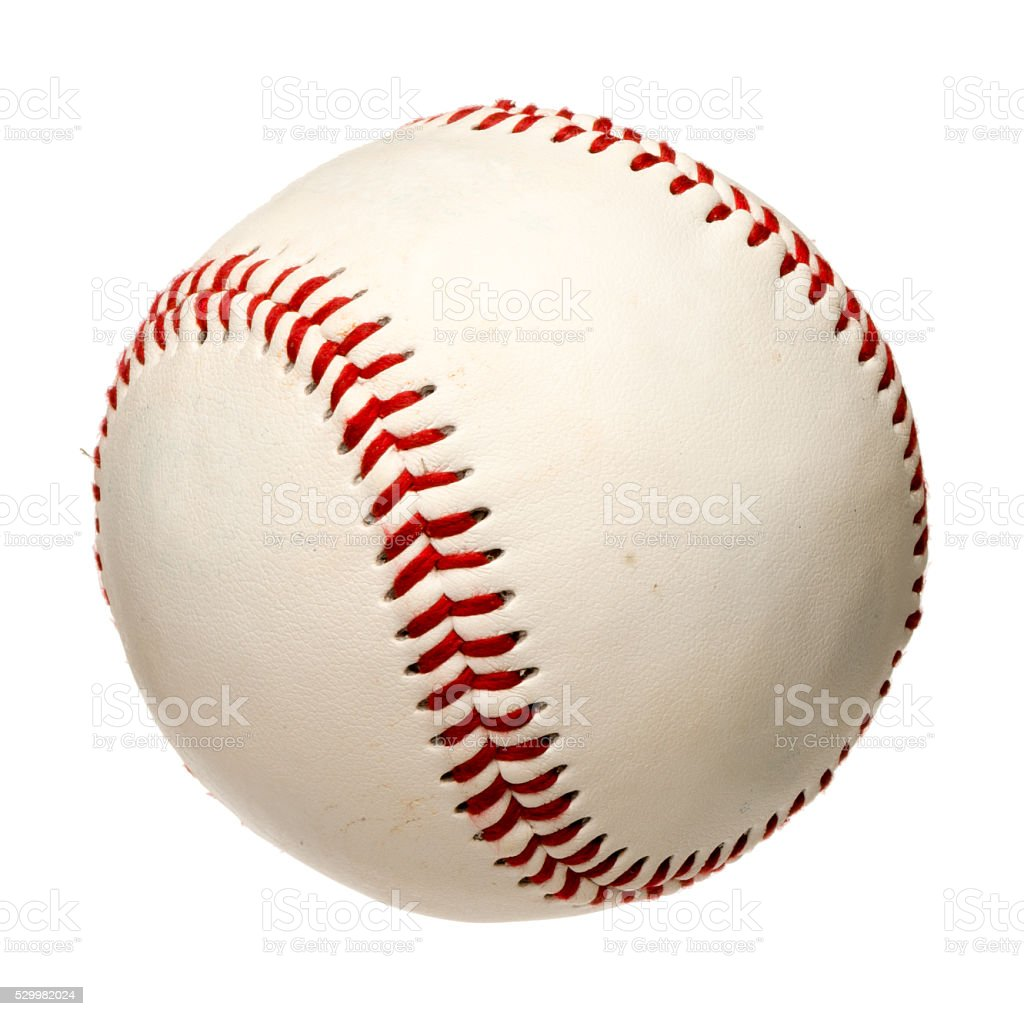 Baseball on white stock photo