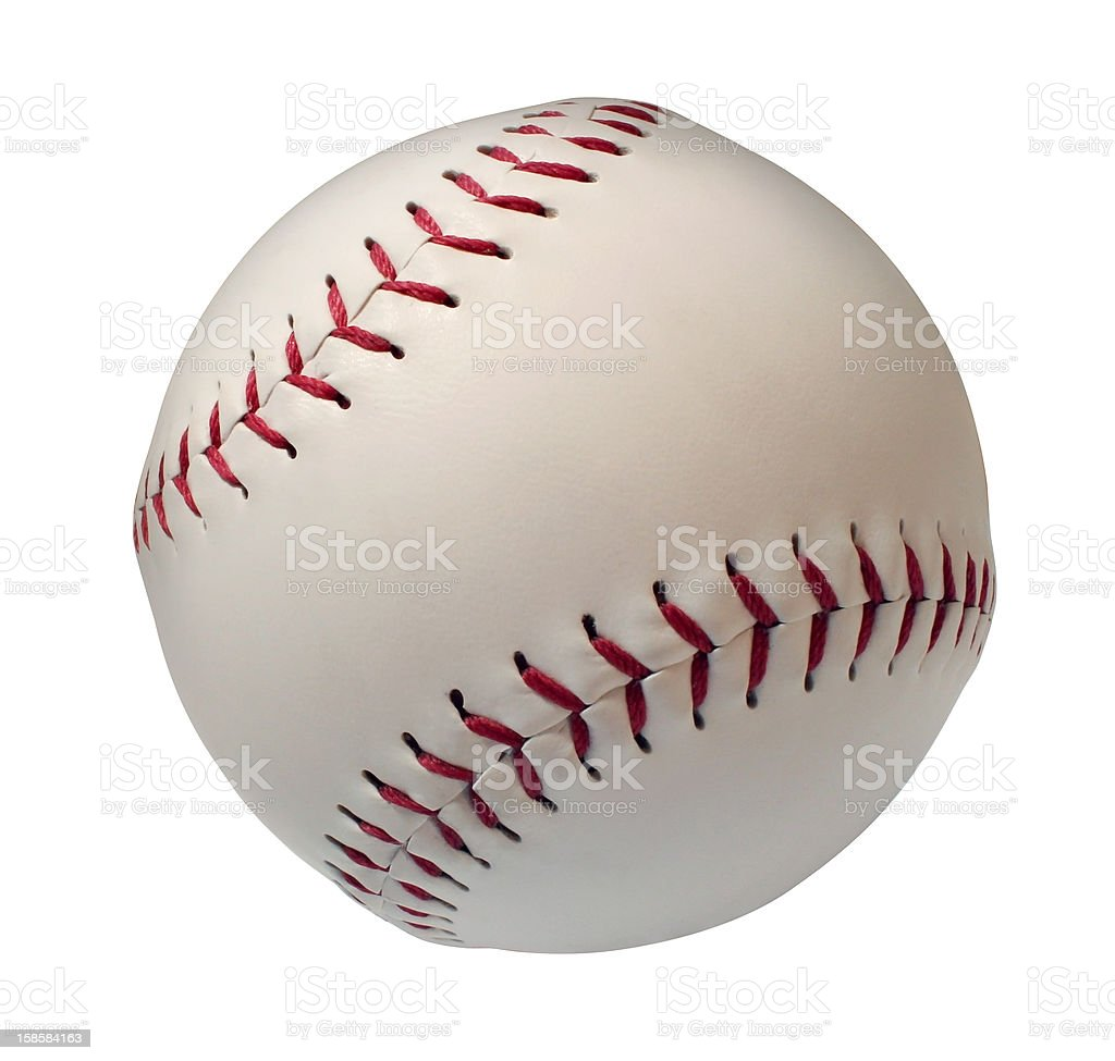 Baseball or Softball Isoltated stock photo