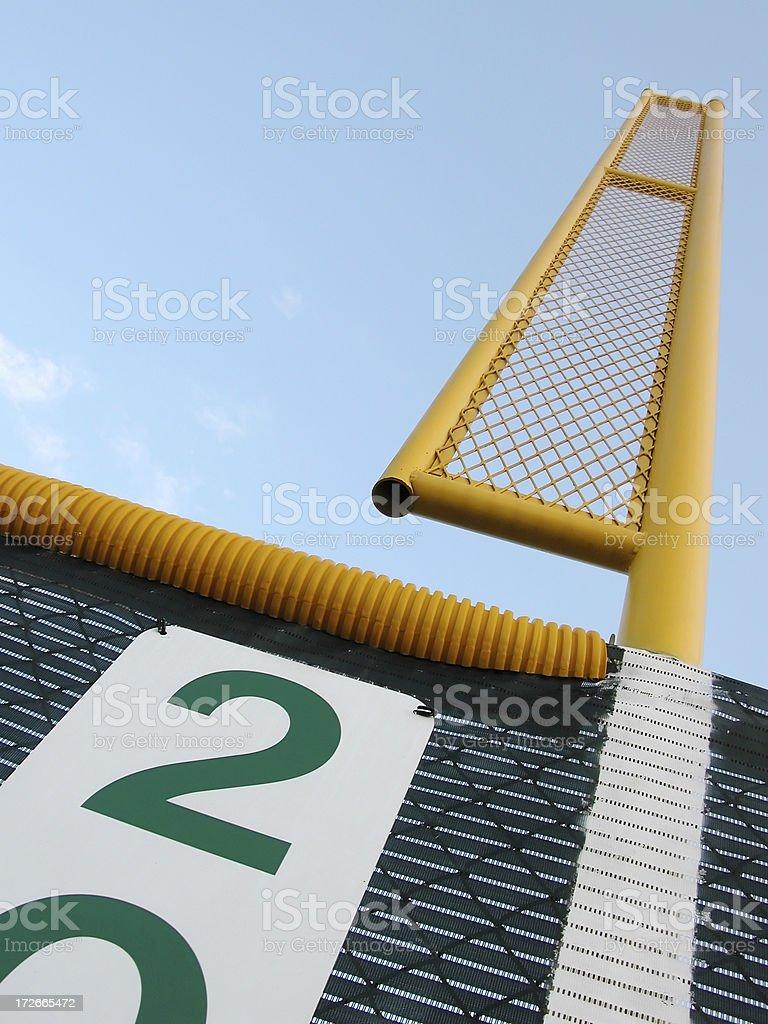 Baseball Outfield Foul Pole royalty-free stock photo