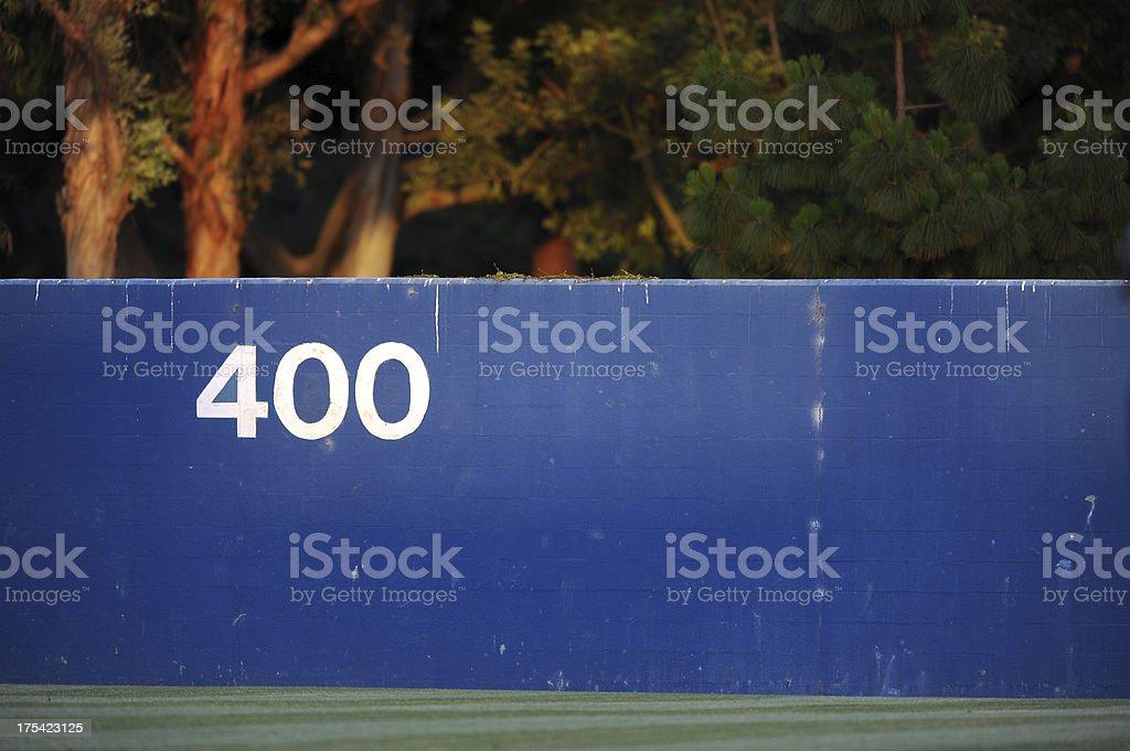 Baseball Outfield stock photo