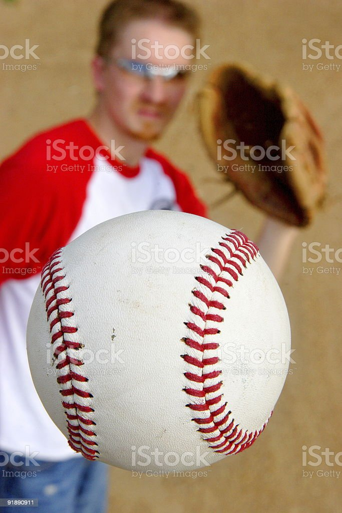baseball outfield player stock photo