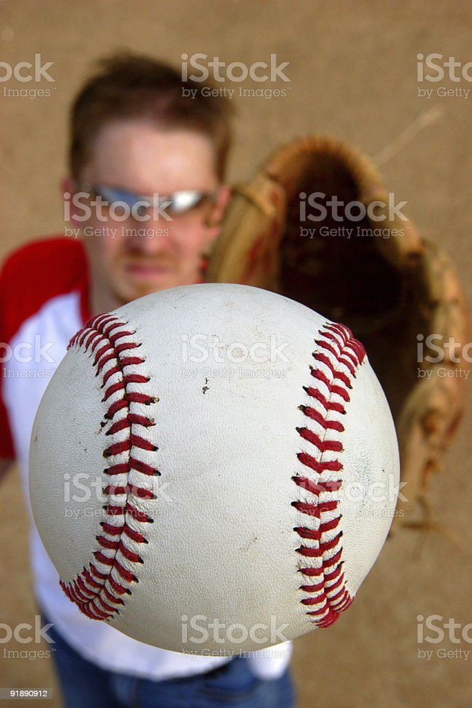 baseball outfield player royalty-free stock photo