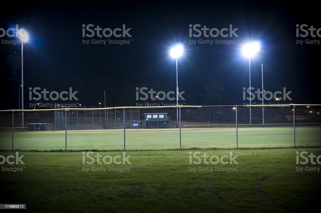 Baseball Park at Night royalty-free stock photo