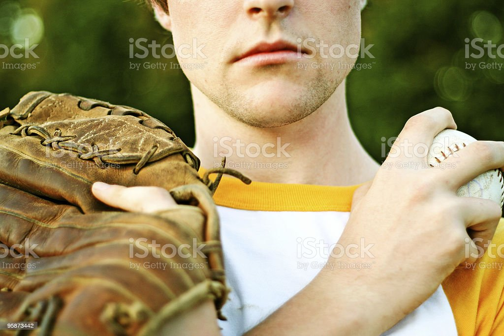 baseball (a portrait) royalty-free stock photo