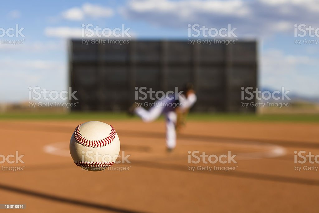 Baseball Pitch royalty-free stock photo