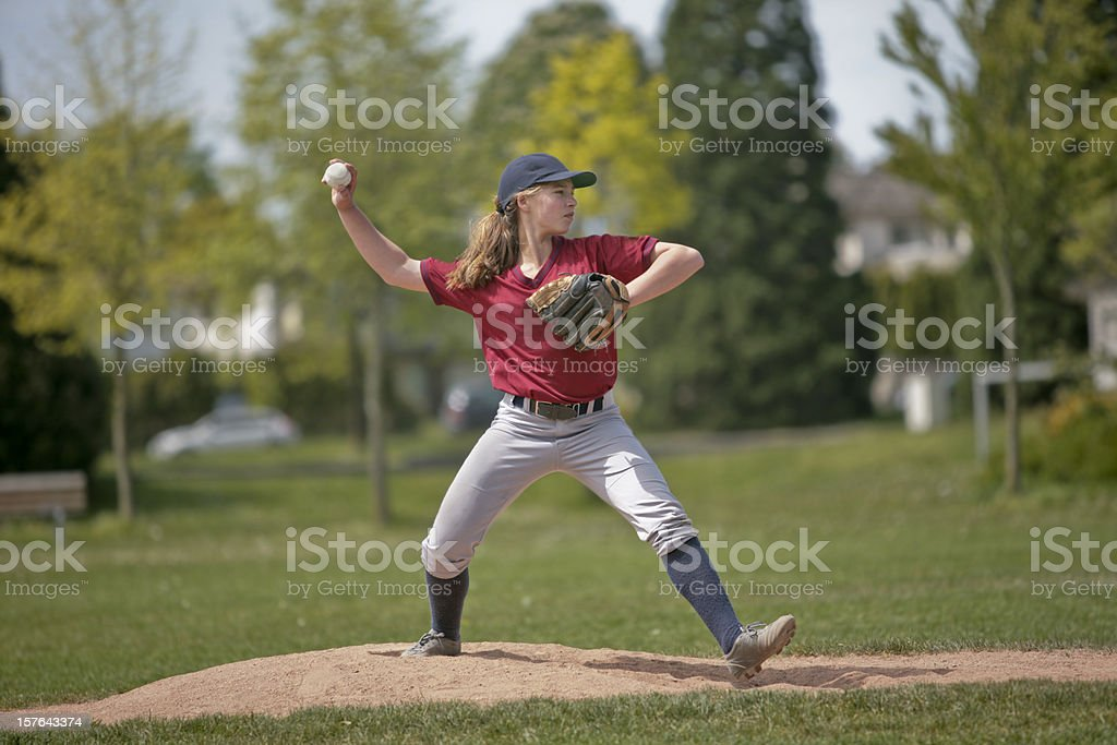 Baseball Pitcher Girl  1 stock photo