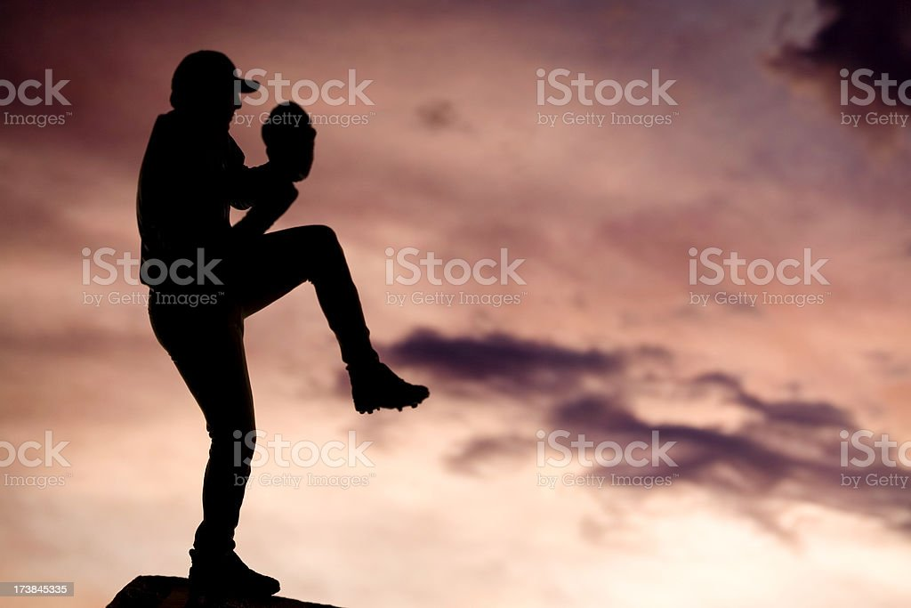 baseball pitcher royalty-free stock photo
