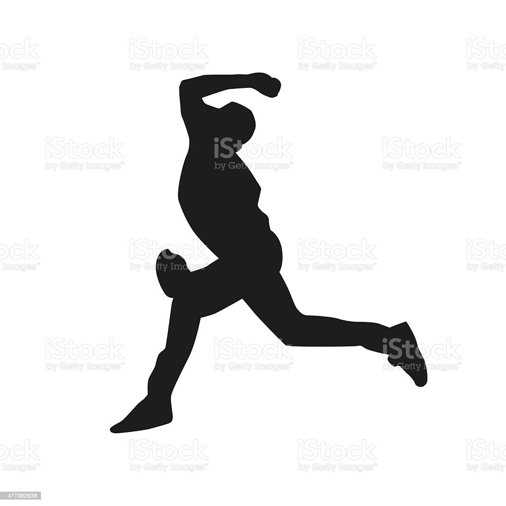 Baseball pitcher silhouette stock photo