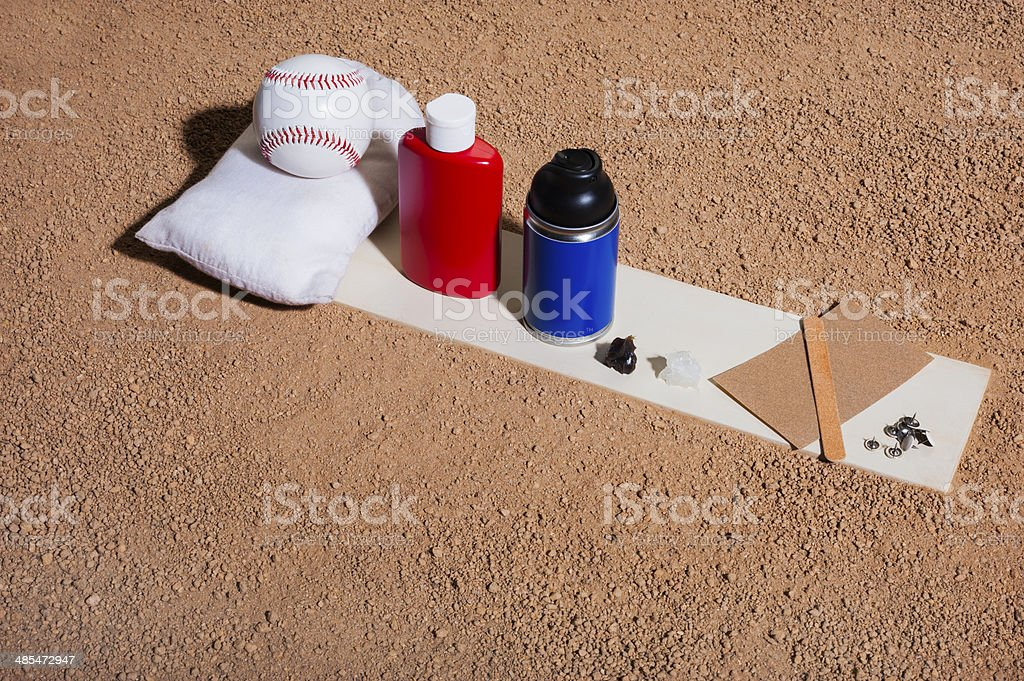 Baseball Pitcher's Cheating Implements stock photo