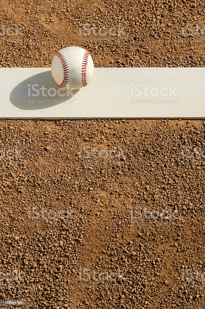 Baseball - Pitcher's mound stock photo