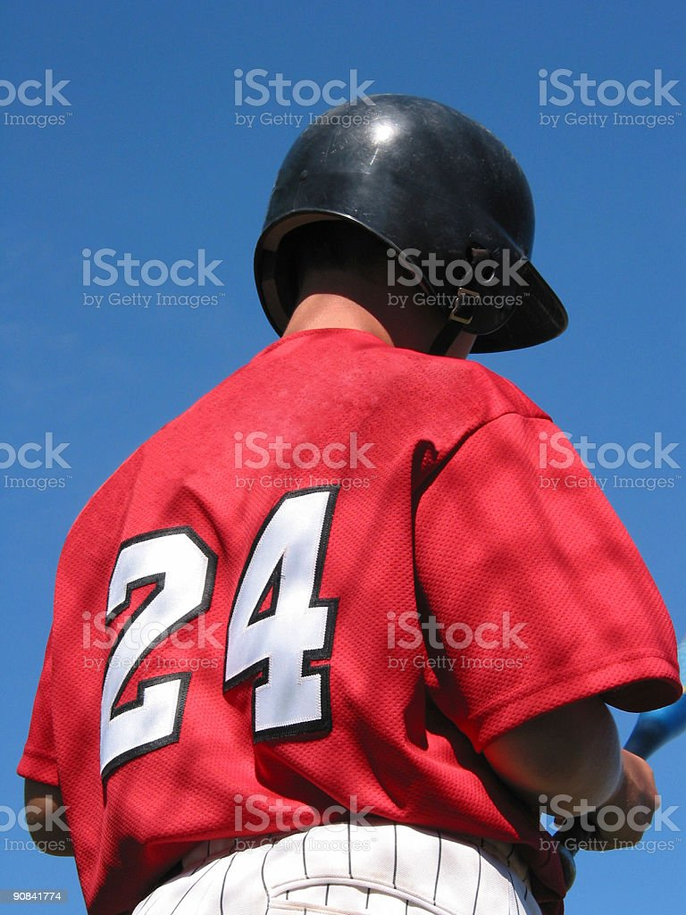 Baseball Player - #24 stock photo