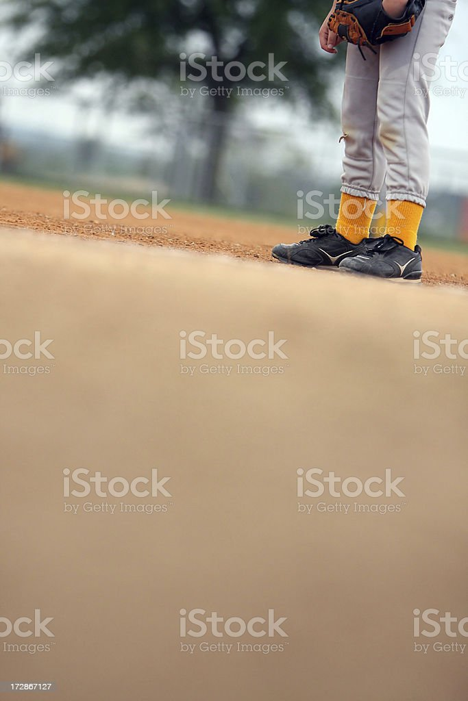 Baseball Player Abstract royalty-free stock photo