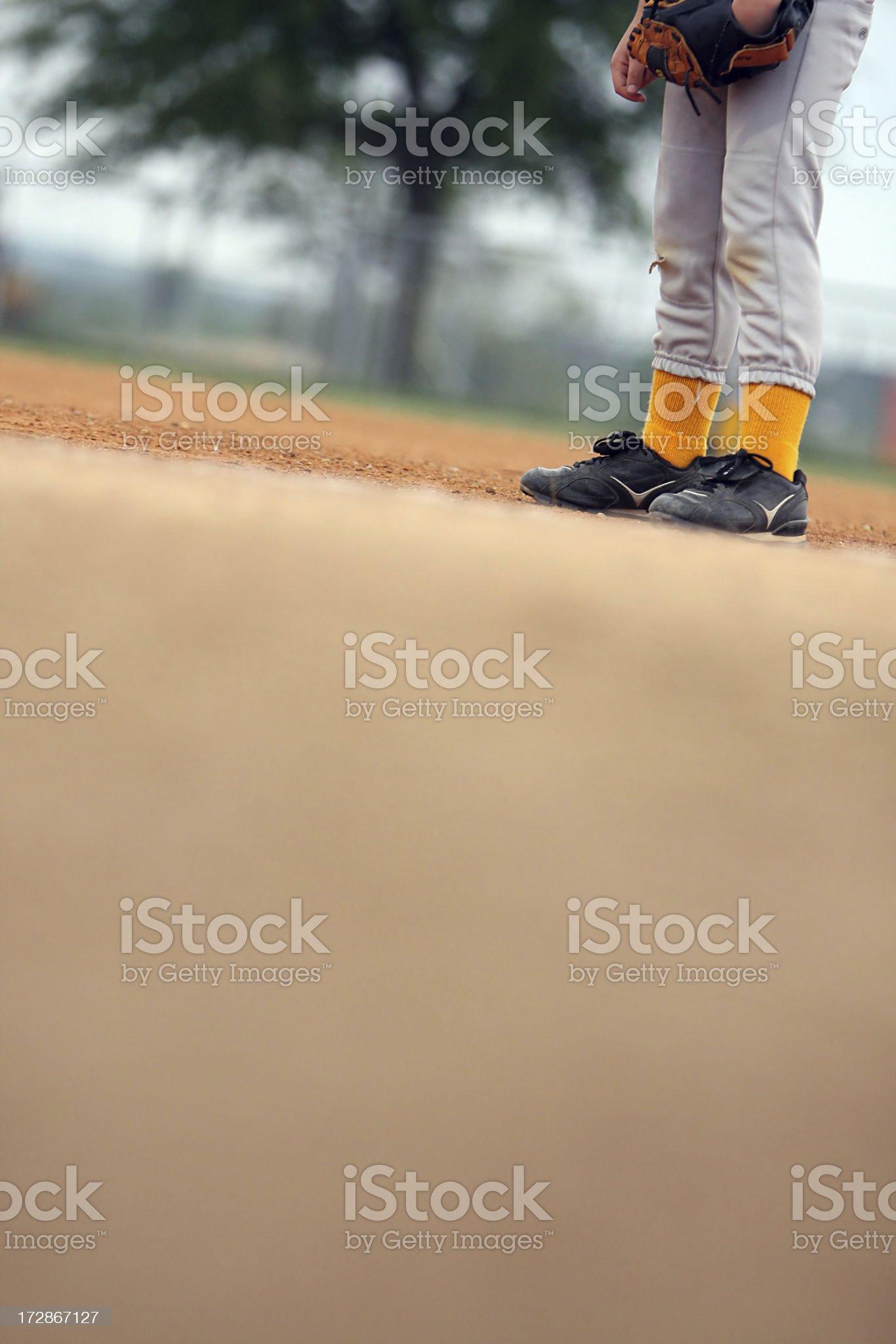 Baseball Player Abstract royalty-free stock photo