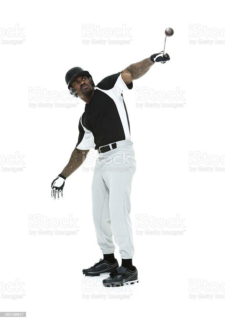 Baseball player batting royalty-free stock photo