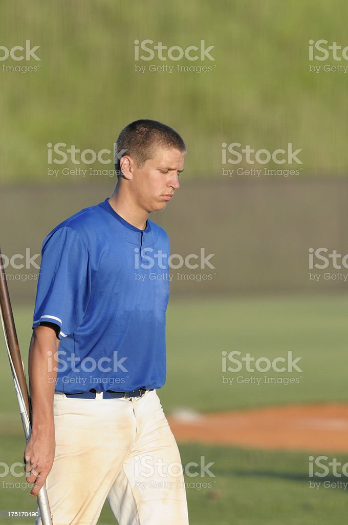 Baseball player field working royalty-free stock photo