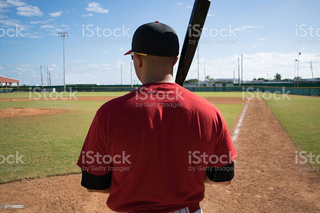 Baseball Player Getting Ready for Big Game stock photo