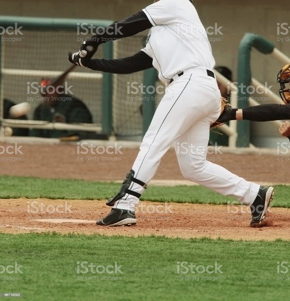 Baseball Player Grounds One royalty-free stock photo