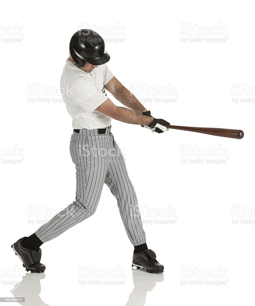 Baseball player in action royalty-free stock photo