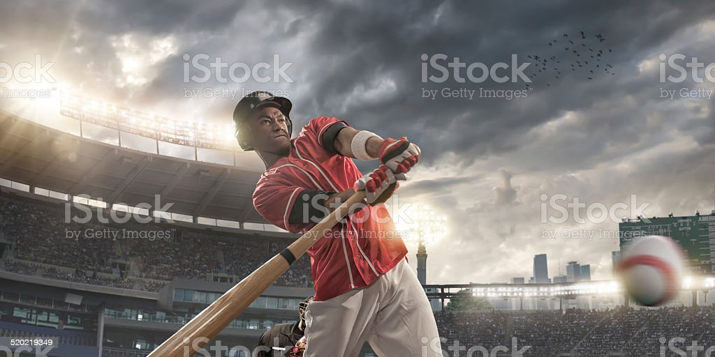 baseball player stock photo