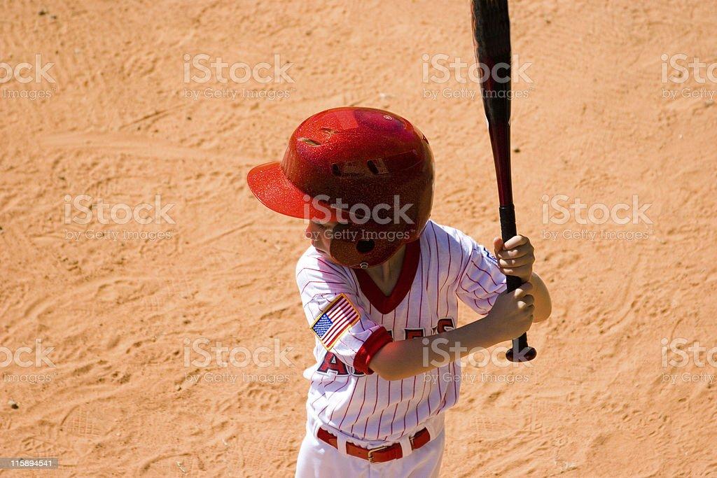 Baseball player ready to Bat stock photo