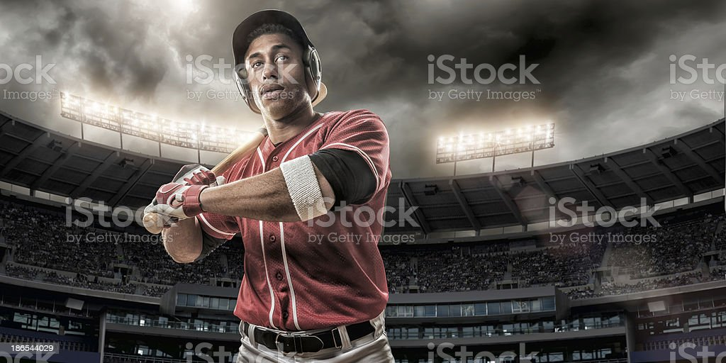 Baseball Player Ready To Hit royalty-free stock photo