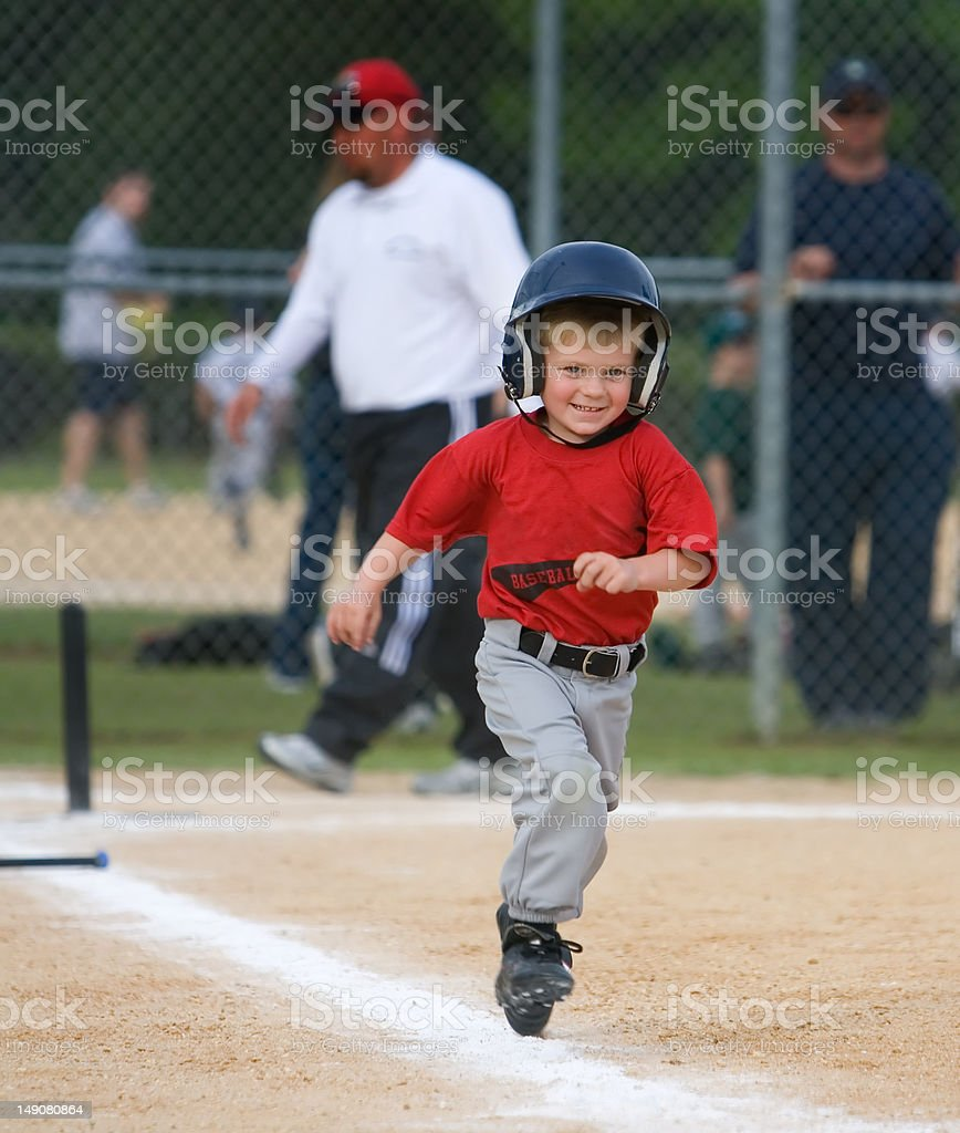 Baseball Player Running stock photo