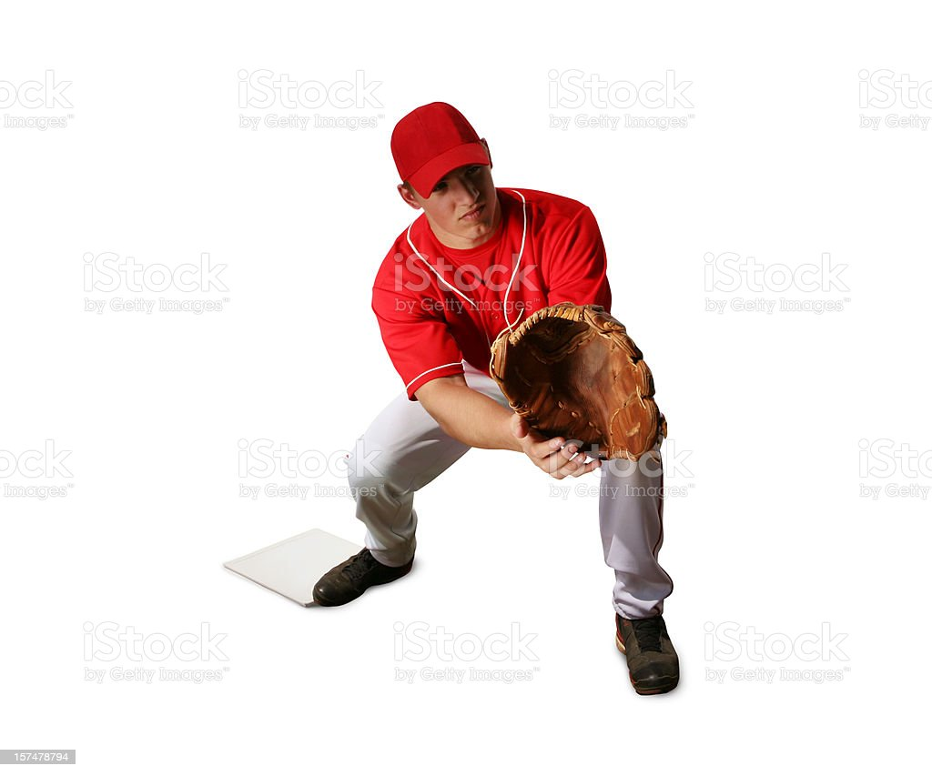 Baseball Player with Clipping Path royalty-free stock photo