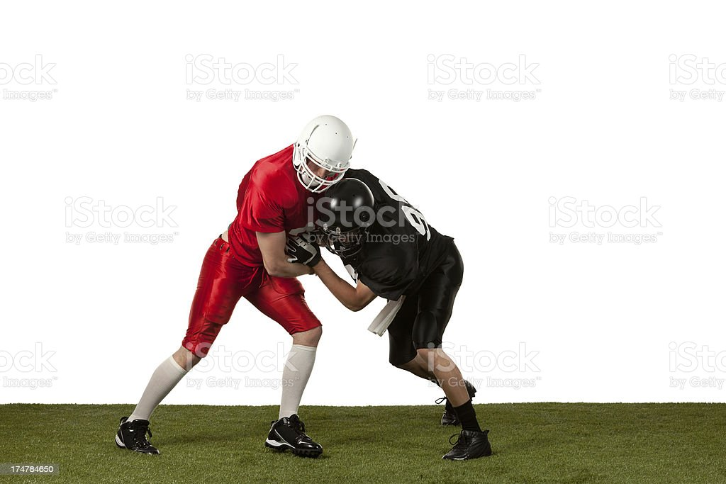 Baseball players in action royalty-free stock photo