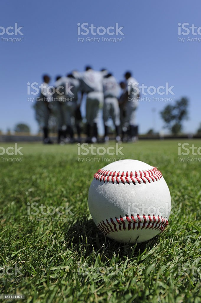 Baseball Players in the Field royalty-free stock photo