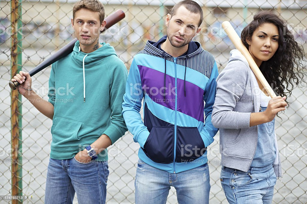 Baseball players royalty-free stock photo