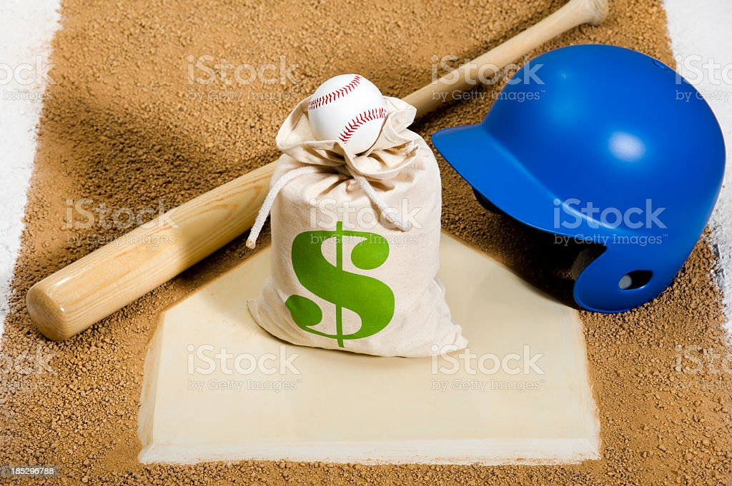Baseball - Playing for the Money stock photo