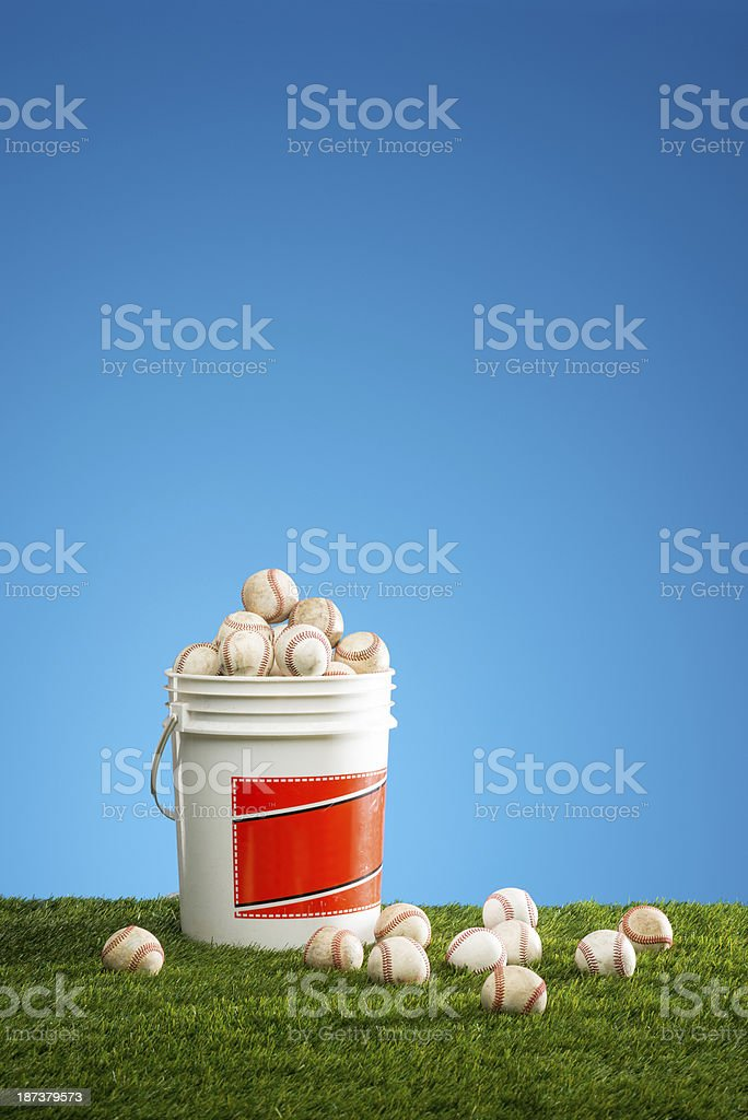 Baseball Practice royalty-free stock photo