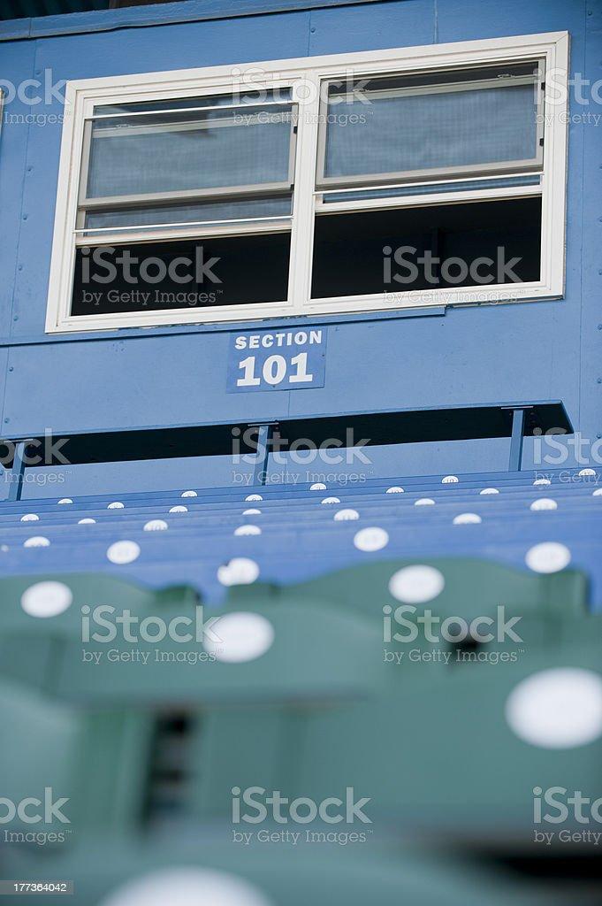 Baseball Pressbox stock photo