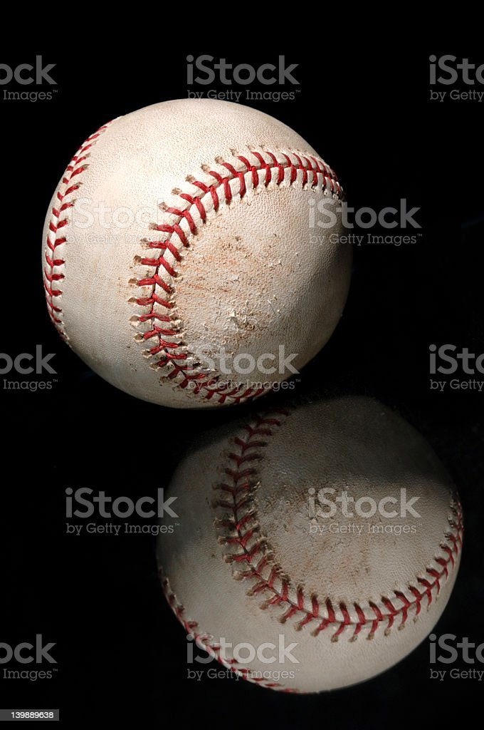 Baseball Reflection stock photo