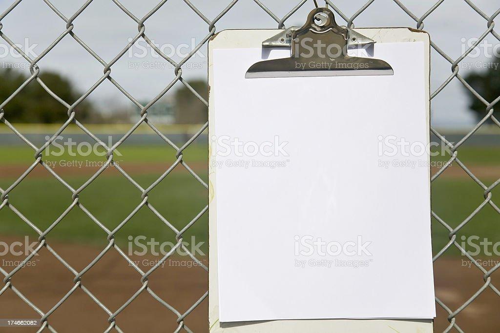 Baseball Roster royalty-free stock photo