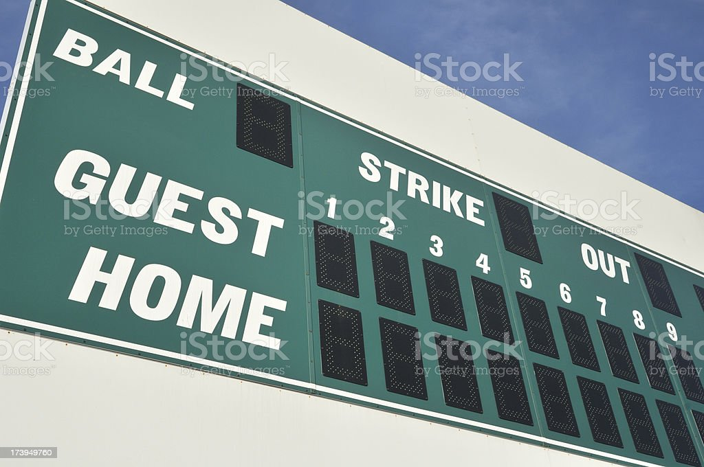 Baseball Scoreboard royalty-free stock photo