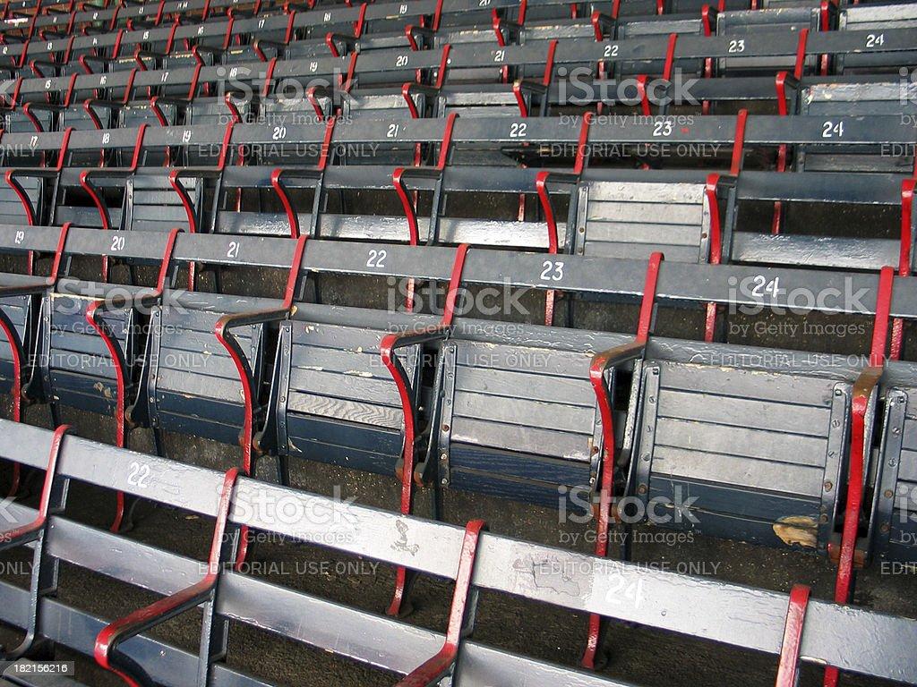 Baseball Seats 3 royalty-free stock photo