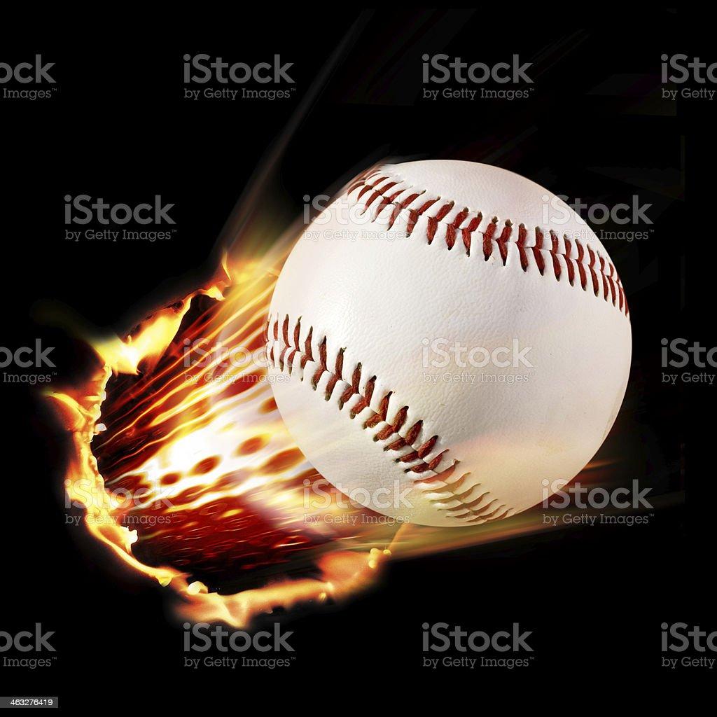 baseball shot stock photo