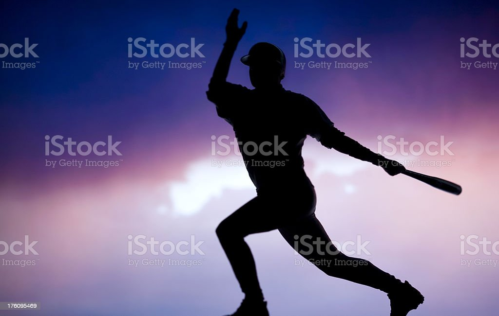 baseball silhouette royalty-free stock photo
